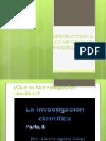 Unidad i Introduccion a Los Metodos de Iinvestigacion