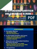 DIVERSIDAD GENETICA CACAO Situación actual Y Perspectivas