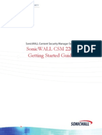 SonicWALL Content Security Manager 2200 Getting Started Guide