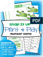 Snap It Up Print Laminate Game Teaching Addition