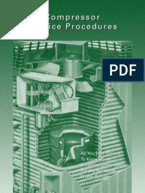 Compressor Service Procedure | Capacitor | Relay