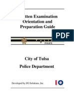 Written Exam Study Guide