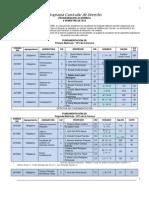 Programacion Academica Derecho 2013 2