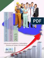 Boletin Estadisticas Laborales 3er Trimestre 2013