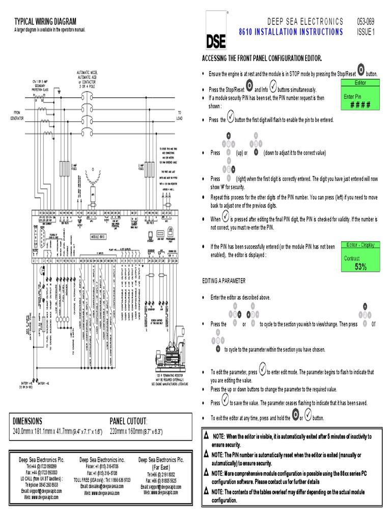 Deepsea 8610 Wiring Diagram Simple Wiring Diagrams - Wiring Diagrams