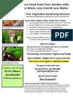Gardening Seminar Flyer Gilbert AZ March 22
