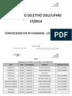 4a Chamada - Lista de Espera - Publicavel
