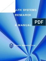 Health System Research Manual
