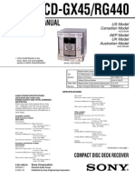 Sony Hcd-gx45 Rg440 Ver-1.2
