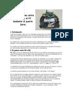 Comunicaciones Entre El Robot y El PC Mediante El Puerto Serie