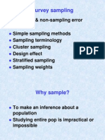 Survey Sampling and Weights