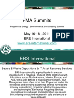 FMA Summits Progressive Energy ,Environment & Sustain- ERS International