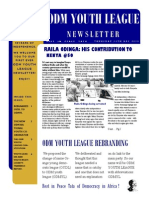 ODM Youth League Newsletter