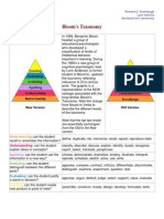 Blooms Taxonomy Old New Version