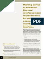 Making Sence of Minimum Flexural Reinforcement