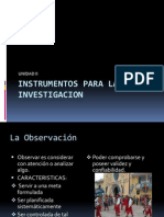 Unidad II Instrumentos Para La Investigacion