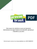 1 Prova Objetiva Assistente Administrativo Prefeitura de Vitoria Es 2010 Funcab
