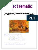 PROIECT TEMATIC Toamna, Toamna Harnica