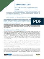 Developing an ERP Business Case
