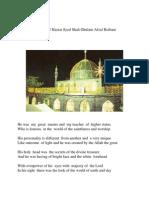 In Praise of Hazrat Syed Shah Ghulam Afzal Biabani