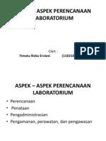 ASPEK – ASPEK PERENCANAAN LABORATORIUM