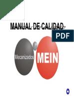 Manual Calidad Mecanizados Mein