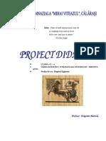 Proiect Didactic Egiptul Antic Mod