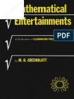 M. H. Greenblatt Mathematical Entertainments a Collection of Illuminating Puzzles, New and Old 1965
