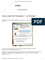 How to Install .NET Framework 1