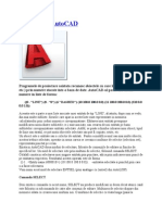 Editarea, Comenzi AutoCAD
