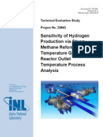 Sensitivity of Hydrogen Production via Steam Methane Reforming to High Temperature Gas-Cooled Reactor Outlet Temperature Process Analysis (1)