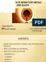 Application of Refractory Metals and Alloys