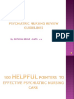 psychiatric nursing review guidelines