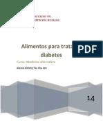Alimentos Para Tratar La Diabetes