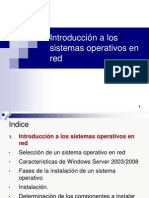 Introduccion a Los Sistemas Operativos en Red