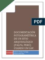 Documentación fotogramétrica de un sitio arqueológico