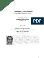 Information Supply in Tourism Management