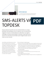 Sms-alerts vanuit TOPdesk