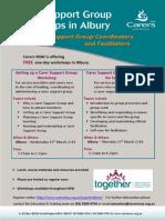 carer support groups set up