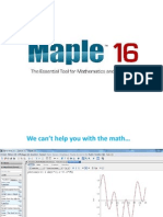 Using Maple in English (for French speakers)