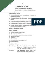 S.Y.B.a. English Literature Paper - II - Indian Literature (Rev)