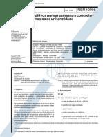 Abnt Nbr 10908 - Aditivos Para Argamassa E Concretos - Ensaios de Uniformidade