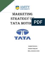 Marketing strategies of TATA motors