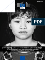 Developing Anti-discrimination Law in Europe (2012)