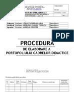 Intocmire Portofolii Cadre Didactice