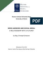 News Agencies and Social Media