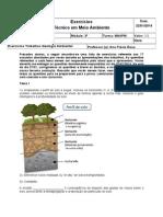 Questões trabalhos de Geologia Ambiental