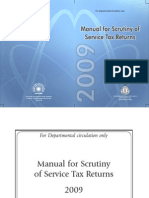 Service Tax Return Scrutiny Manual