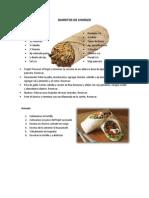 Burritos de Chorizo