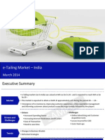 E-Tailing Market in India 2014 - Sample